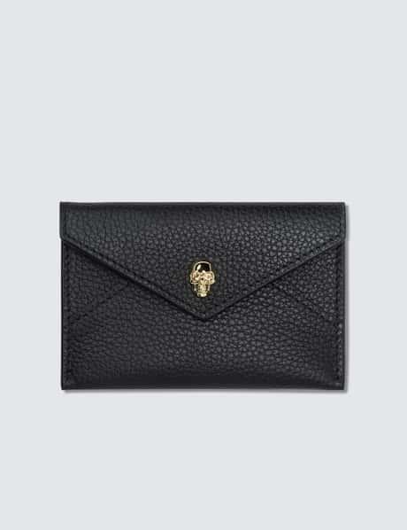 알렉산더 맥퀸 Alexander McQueen Skull Envelope Leather Card Holder