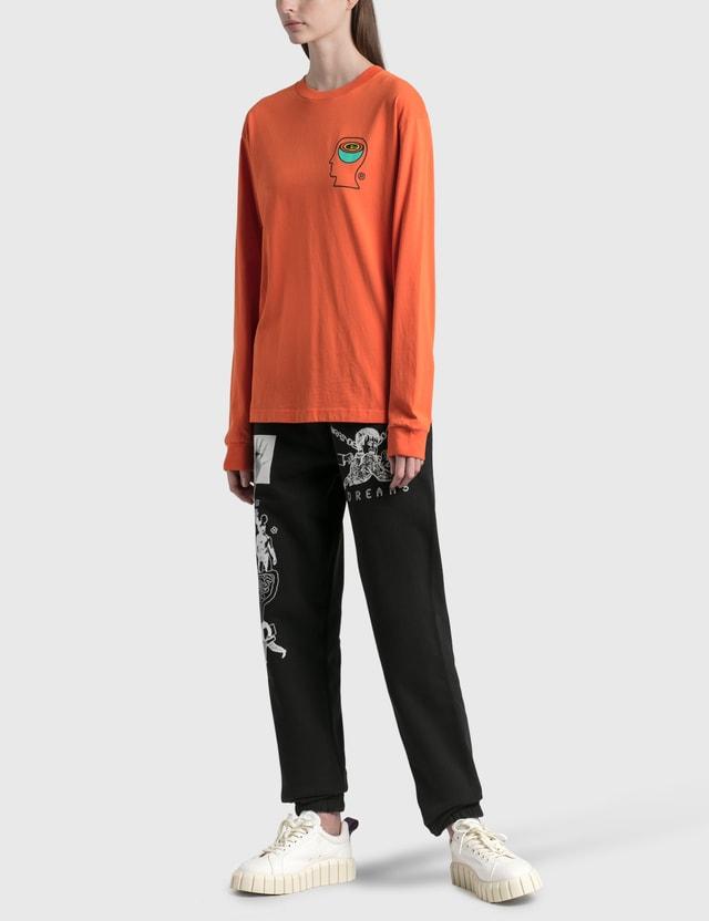 Brain Dead Earthworks Long Sleeve T-Shirt Orange Women