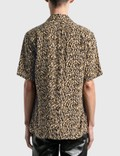 Saint Laurent Leopard Print Camouflage Shark Collar 셔츠 Leopard Men