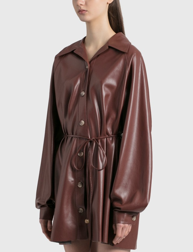 Nanushka Joy Vegan Leather Dress Plum Chutney Women