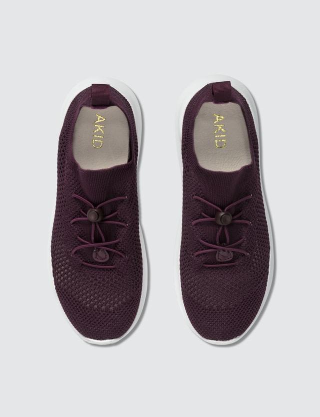AKID Sutherland Sneakers Burgundy Knit Kids