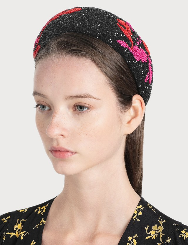 Ganni Padded Beaded Hair Band