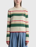 Loewe Stripe Anagram Cropped Sweater Picture