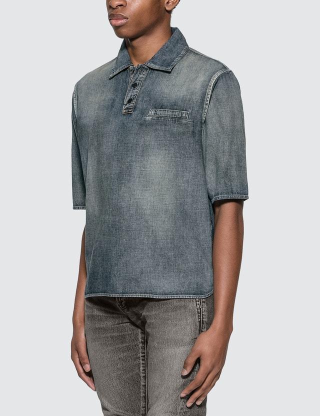 Saint Laurent Denim Polo Shirt