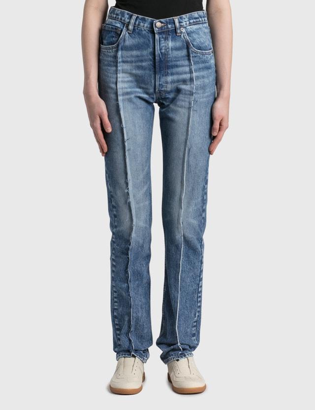 Maison Margiela Spliced Trim Recycled Jeans Blu Denim Recycled Women