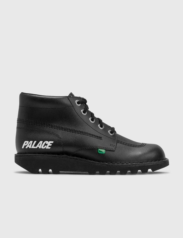 Palace Skateboards Palace Skateboards X Kickers Hi Leather Boots Black Archives