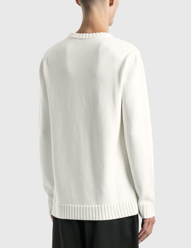 Loewe LOEWE Stitch Sweater White/pink/green Men