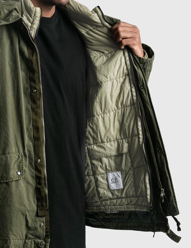 CP Company 50 Fili Rubber Mille Goggle Jacket Martini Olove Men