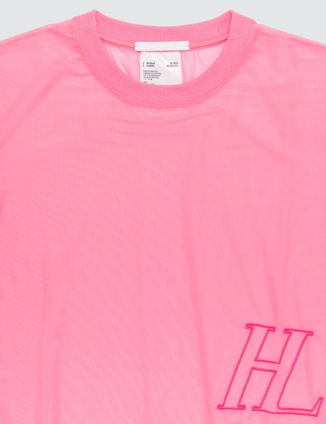Helmut Lang Femme Nylon Little T-shirt Prism Pink Women