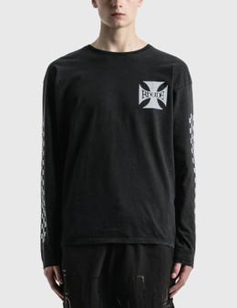Rhude Classic Checkers Long Sleeve T-Shirt