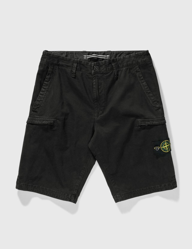 Stone Island Cargo Shorts Black Men