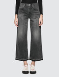 John Elliott Lydia Jet Black Wide Leg Jeans Washed Black Women