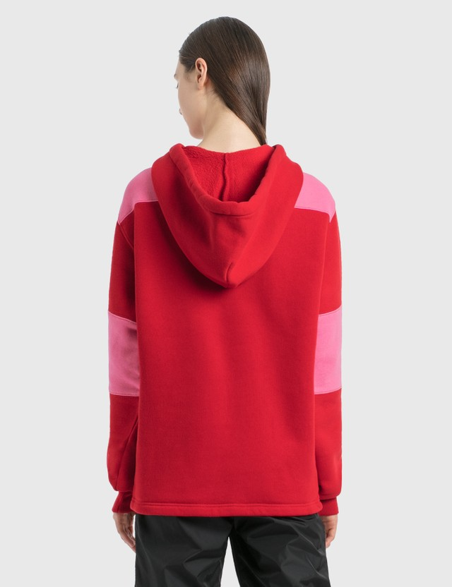 Acne Studios Hooded Rugby Sweatshirt Cherry Red Women