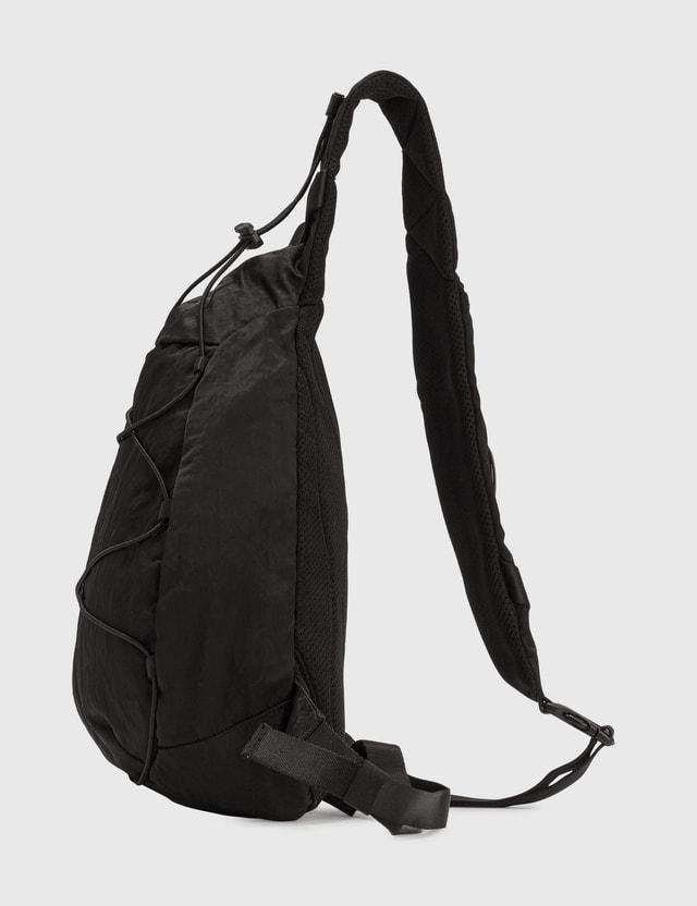C.P. Company Nylon B Garment Dyed Single Strap Rucksack Black Men