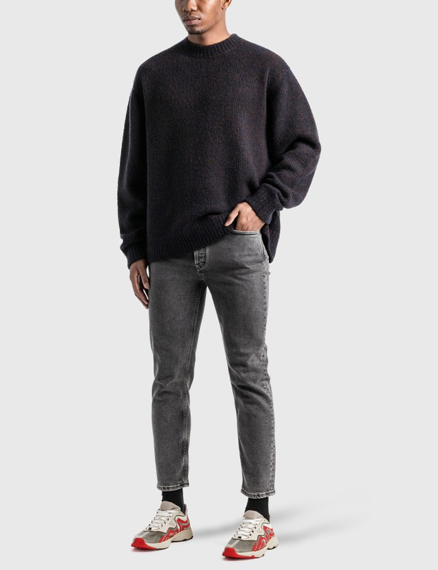 Acne Studios Melange 스웨터 Navy/brown Men
