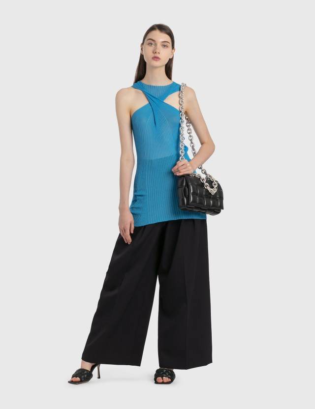 Bottega Veneta Cotton-Silk Rib Top Swimming Pool Women