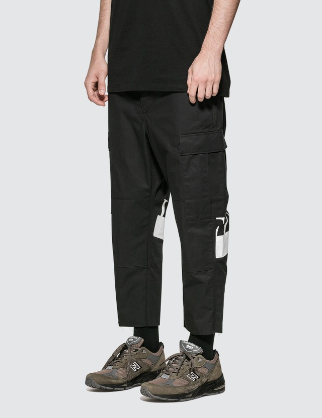 uniform experiment Hem Cut-off Cropped Cargo Pants