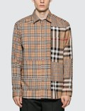 Burberry Classic Fit Patchwork Check Cotton Shirt Picutre