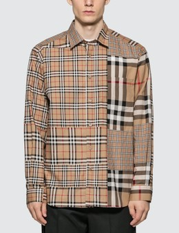 Burberry Classic Fit Patchwork Check Cotton Shirt