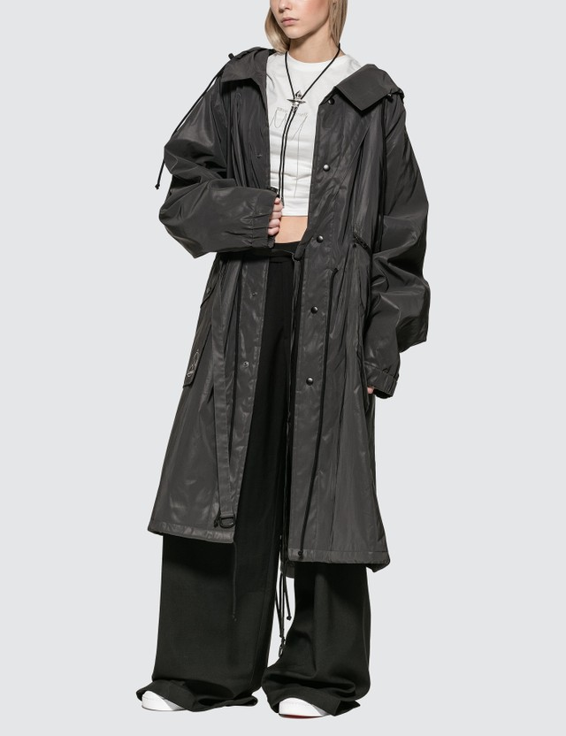 Hyein Seo Reflective Padded Fishtail Parka With Detachable Bag