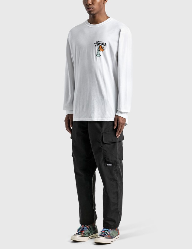 Stussy Hidden Pawn Long Sleeve T-Shirt White Men