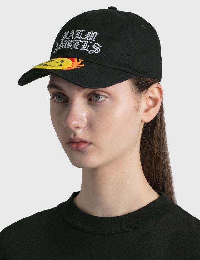Palm Angels Burning Head Cap Black Yellow Women