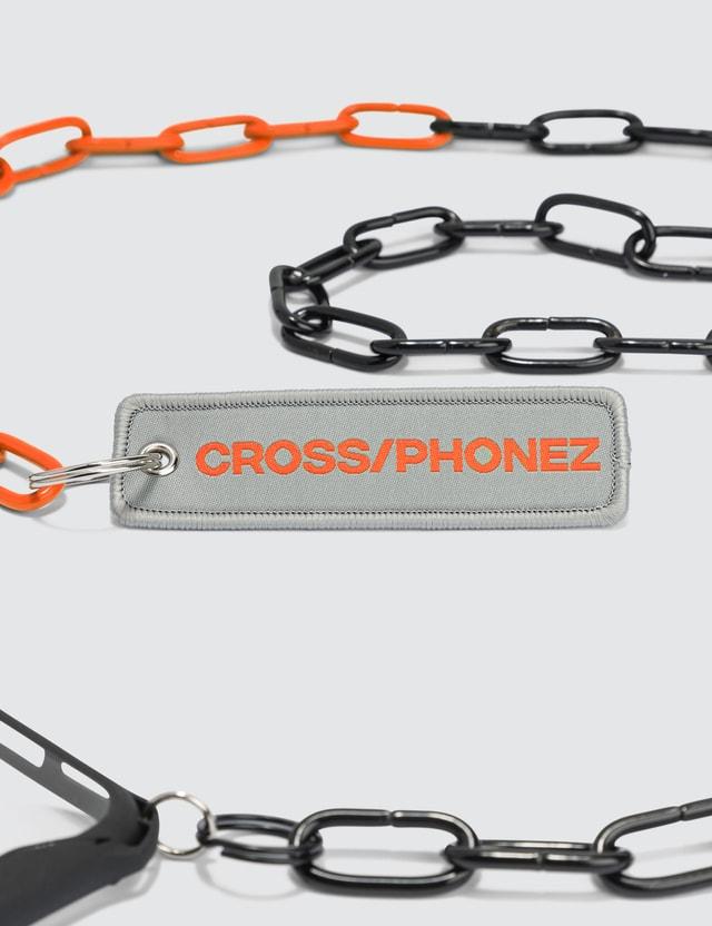 CROSS/PHONEZ Black And Orange Chain iPhone Case