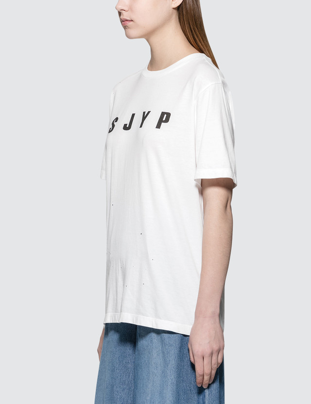 SJYP Logo Painted S/S T-Shirt