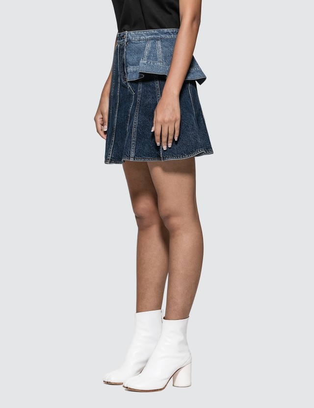Alexander McQueen Pieced Denim Mini Skirt