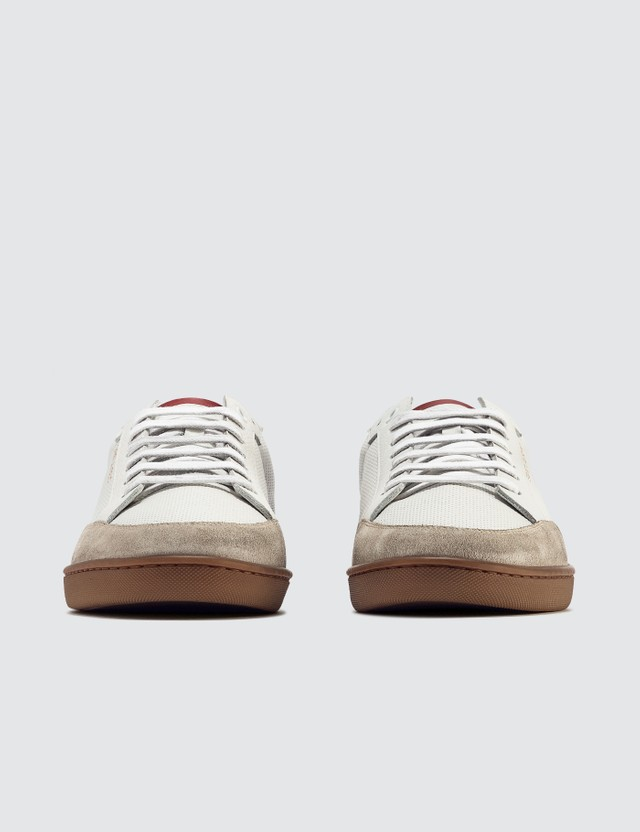 Saint Laurent Court Classic SL/10 Sneakers In Perforated Leather White  Men