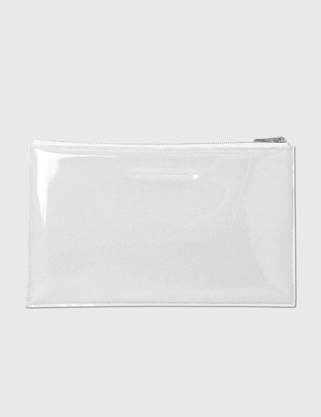 MM6 Maison Margiela PVC Foam Envelope Clutch Trasparent Women