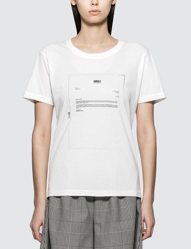 72bdeb6b4 MM6 Maison Margiela Short Sleeve Logo T-Shirt ...