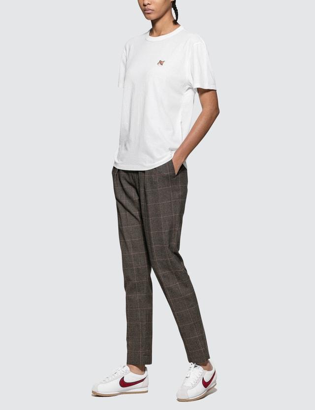Maison Kitsune Fox Head Patch Short Sleeve T-shirt