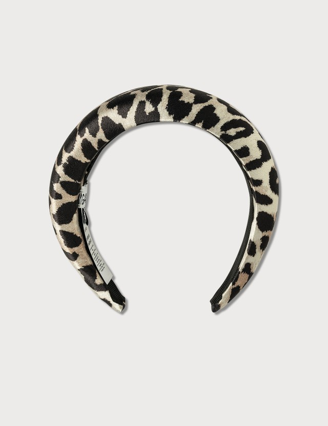 Ganni Padded Leopard Headband