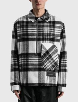 We11done Check Anorak Wool Shirt