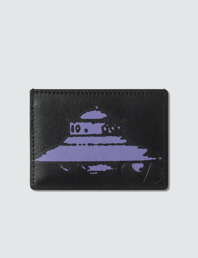Valentino Valentino x Undercover UFO Print Card Holder