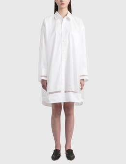 Maison Margiela Organza Shirt Dress