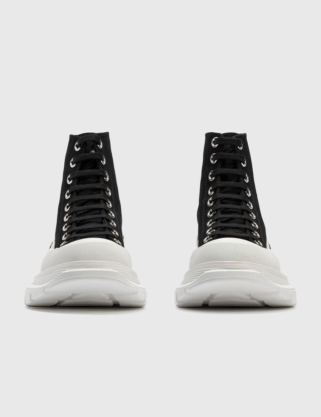 Alexander McQueen Tread Slick Boot Black/white/black Women