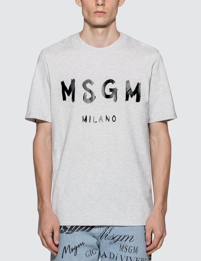 MSGM Paint Brushed Logo T-Shirt