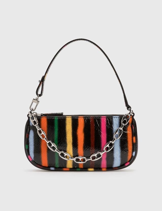 BY FAR Mini Rachel Spray Paint Leather Bag Black Women