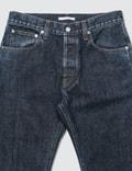 Helmut Lang Dark Cuffed Masc Hi Straight Denim Jeans