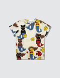 Mini Rodini Cat Mermaid Aop Ss Tee Picutre