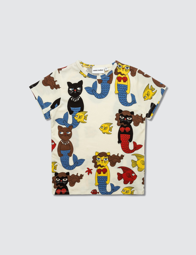 Mini Rodini Cat Mermaid Aop Ss Tee