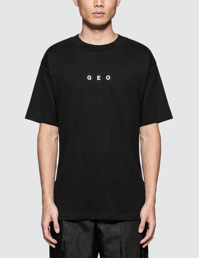 GEO Weathered Globe S/S T-Shirt Black Men