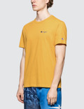 Champion Reverse Weave Small Script Logo S/S T-Shirt Orange Men