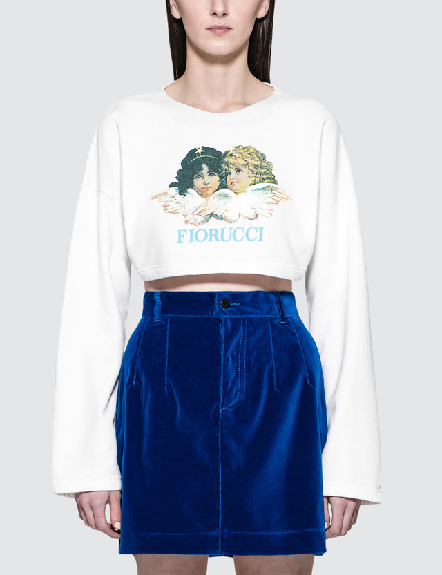 Fiorucci Vintage Angels Super Cropped Sweat