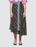 Loewe Paula Skirt With Denim Flags Picture