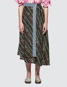 Loewe Paula Skirt With Denim Flags