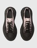 Alexander McQueen Tread Slick Sneakers In Printed Fabric Black/white/silver Women