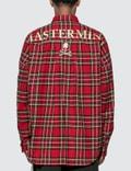 Mastermind World Embroidered Logo Tartan Check Shirt